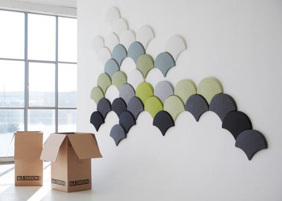 Pannelli acustici collezione Ginko  esempio di applicazione di Stone Designs