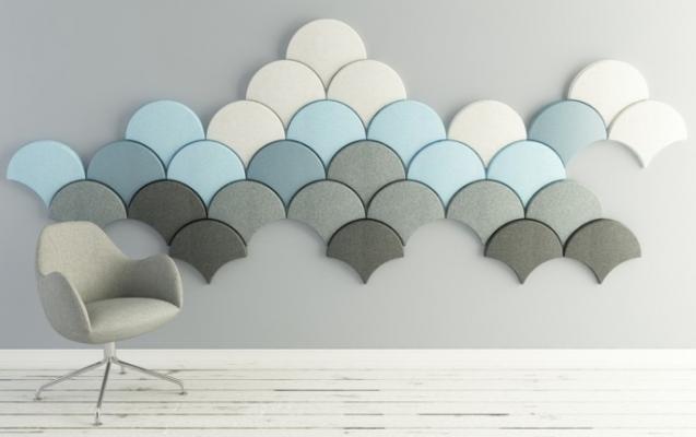 Pannelli acustici collezione Ginko toni chiari di Stone Designs