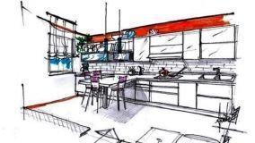 Cucina rettangolare: idea di progetto