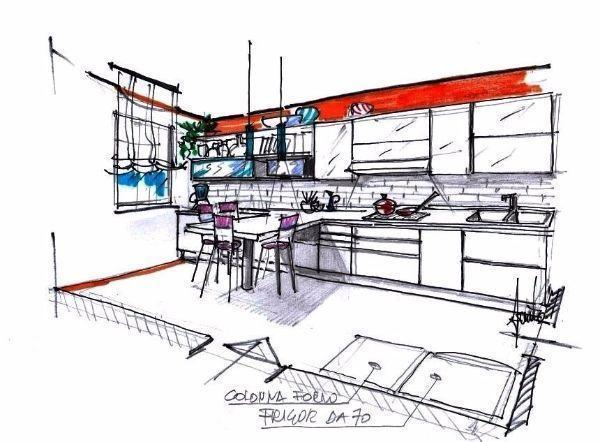 Idee Banconi Cucina: Iluminazione moderna in cucina.