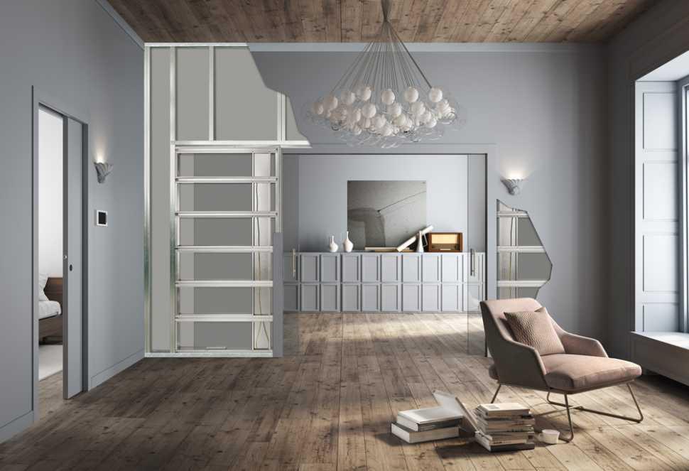 Controtelaio per porta scorrevole in una parete in cartongesso by Eclisse