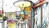 Zona pranzo circolare: idea di progetto