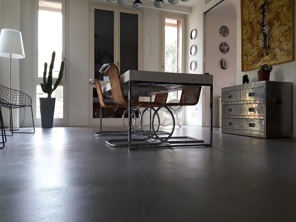 Pavimento in cemento da interni