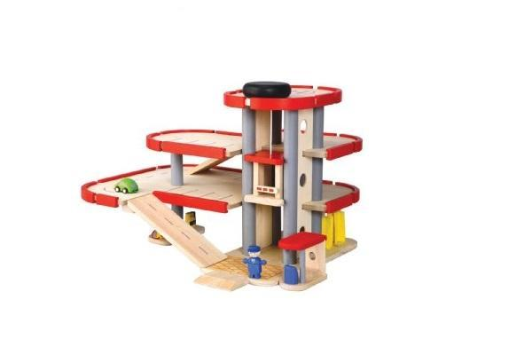 Giocattoli in legno for Tre piani di garage per auto con soppalco
