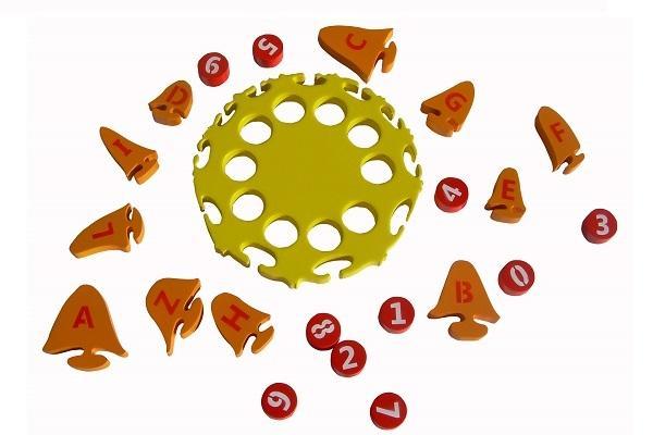 Pezzi del Sole alfabeto e numeri di Fantastik Toys