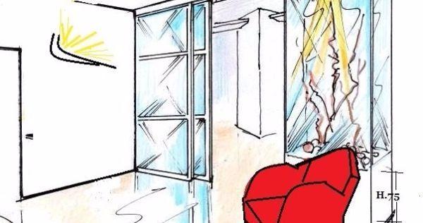 Divisorio vetrato tra ingresso e living