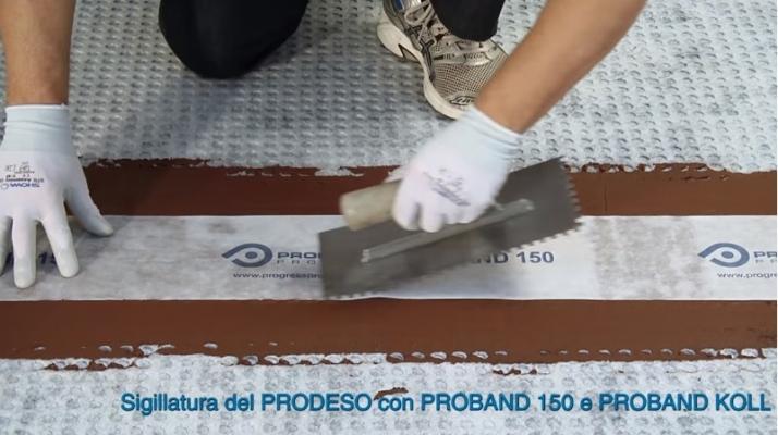 Giunto membrana impermeabilizzante sotto pavimento di Progess Profiles