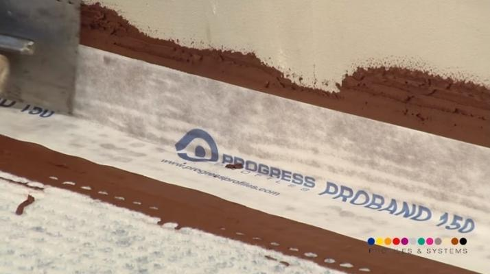 Attacco parete membrana impermeabilizzante sotto pavimento di Progess Profiles