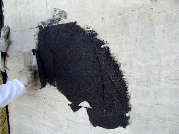 Applicazione impermeabilizzante aquabit mediante spatola