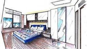 Camera da letto con armadio a ponte