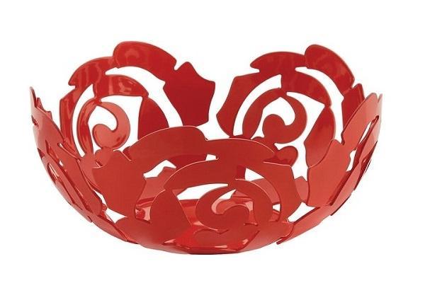 Fruttiera La Rosa rossa di Alessi