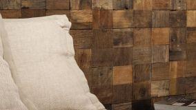 Spettacolari mosaici in legno come rivestimento da interni
