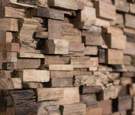 Wonderwall Studios: mosaico in legno