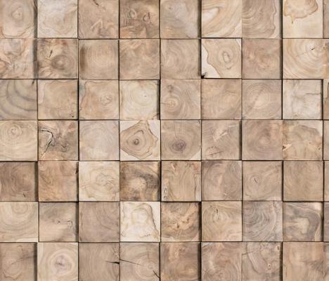 Wonderwall Studios: mosaico realizzato con tesser in legno