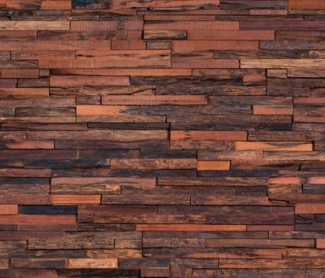 Wonderwall Studios- Jagger: mosaico con listelli di legno