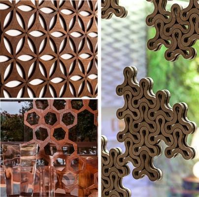 Pareti in mosaico di legno, by Mosarte mix
