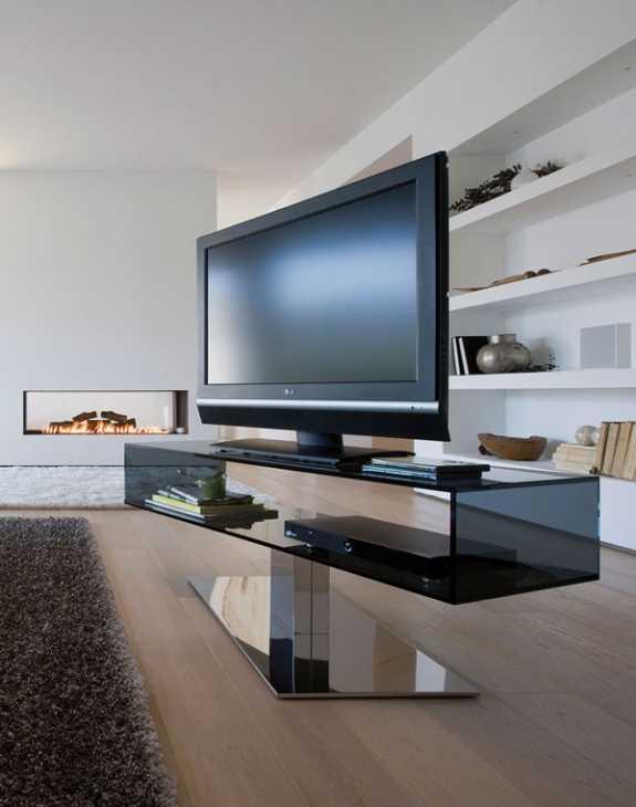 Porta Tv Design Innovativo.Porta Tv In Vetro