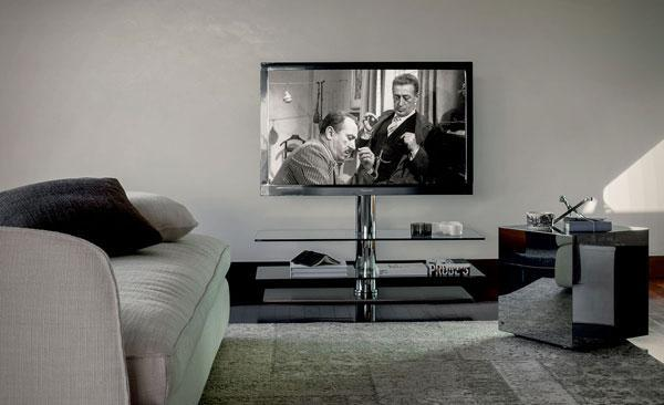 Porta TV in vetro CATTELAN ITALIA, modello VISION