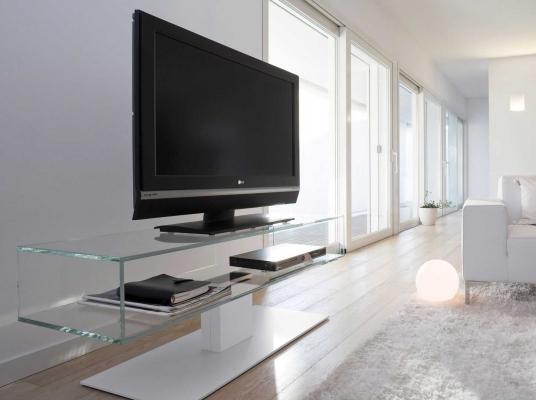 Porta-TV in vetro by ANTONELLOITALIA modello DANIEL