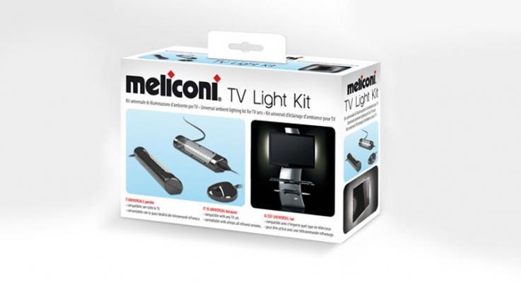 Dispositivo MELICONI per illuminare la tv