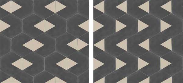 Grafica geometrica per le cementine artistiche YANN