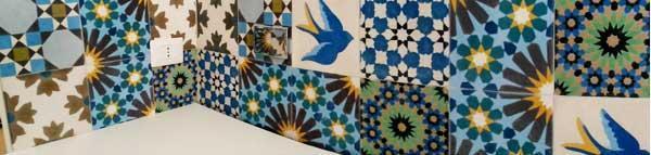 Applicazione di cementine artistiche YANN su parete