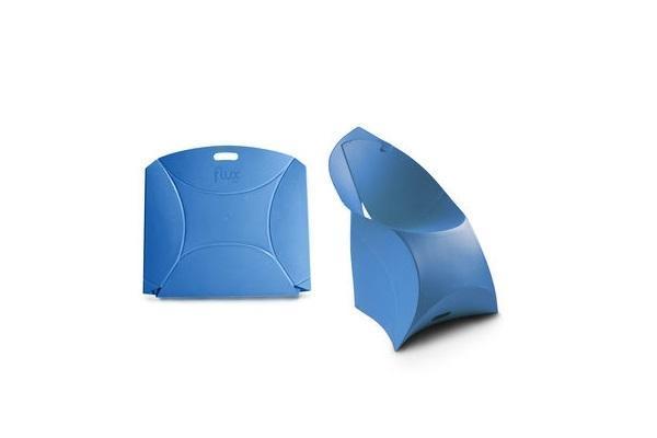 Poltrona pieghevole Flux Chair per bambini blu di Flux