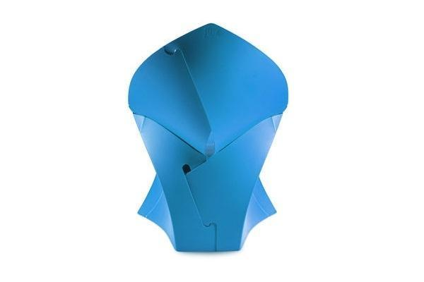 Poltrona Flux Chair di Flux blu aperta