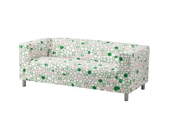 Fodera per divani Klippan Ikea con fantasia Marrehill rosa