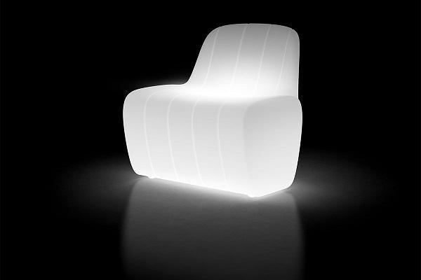 Jetlag Armchair bianca di Plust