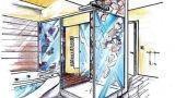 Bagno con vasca e box doccia