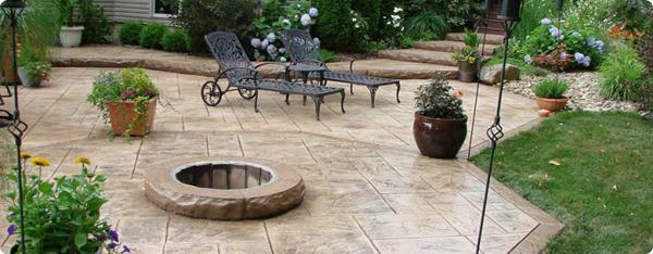 pavimentazione giardino outdoor : Il cemento stampato per i pavimenti outdoor