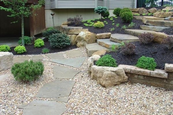 Pavimentazione ghiaia giardino