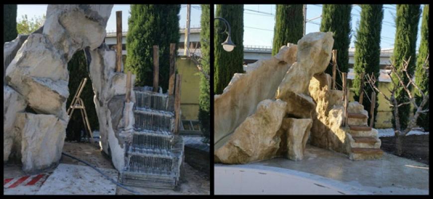 Rocce artificiali prima e dopo di ARTSTONE