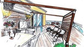 Progettare una pergola in terrazza per un living da esterno