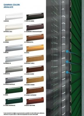 Colori delle tapparelle in alluminio Arialuce