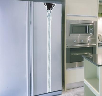 Adesivo per frigo Cerniera di Tenstickers