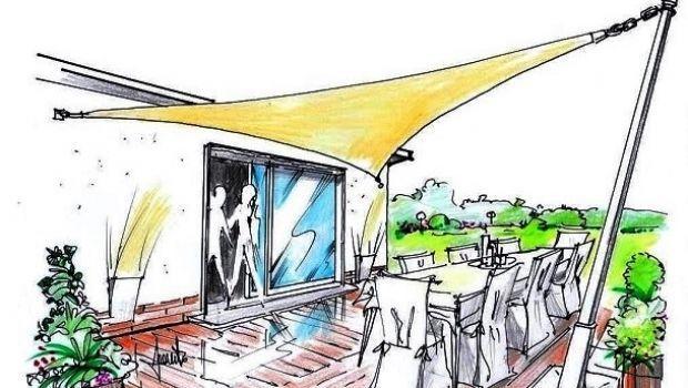 Proteggere gli spazi esterni con una vela parasole triangolare