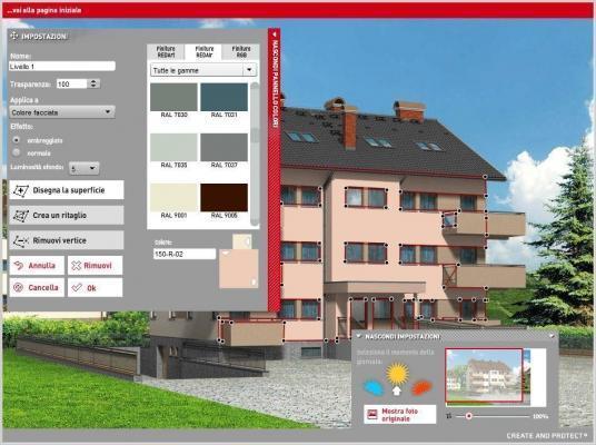 Simulatore facciata: dettagli per la personalizzazione