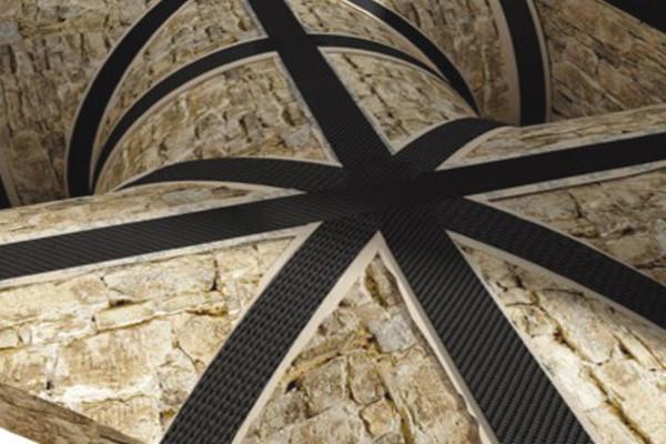 Rafforzamento fibrebuild con materiale in fibra di carbonio