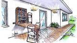 Un tavolo a muro richiudibile per il terrazzo