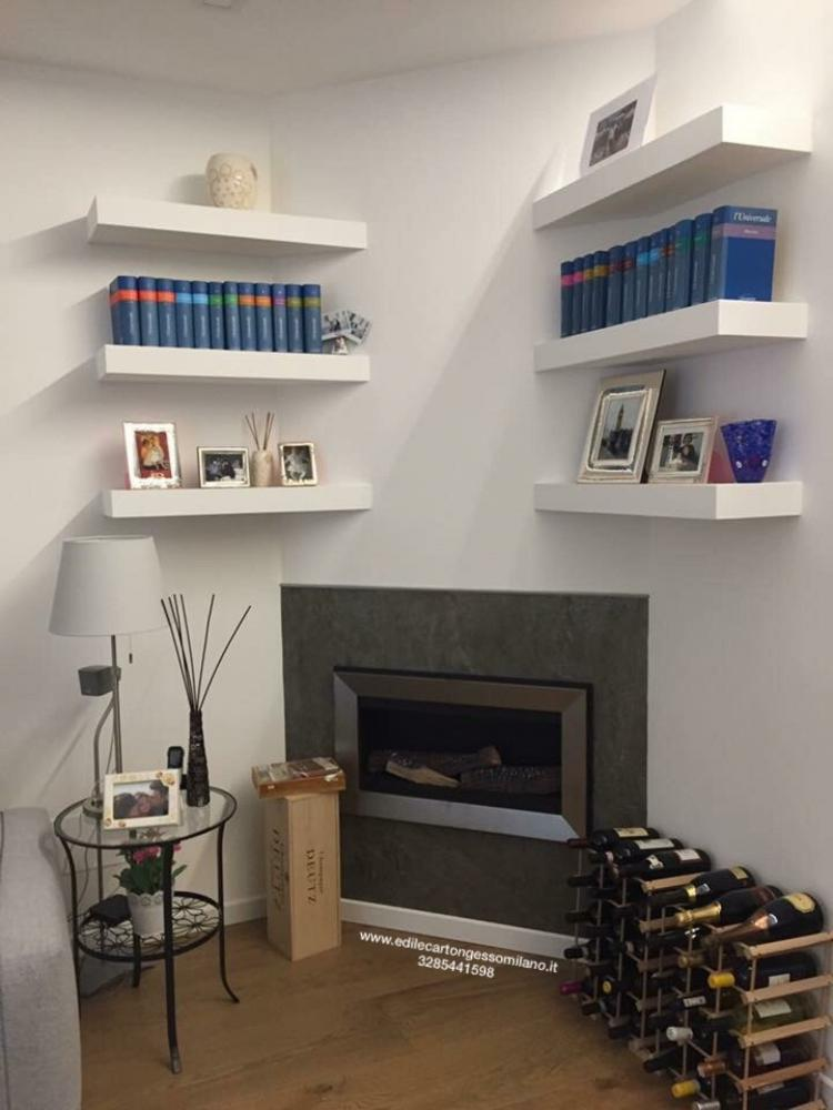 Foto pareti di cartongesso - Ripiani interni cucina ...