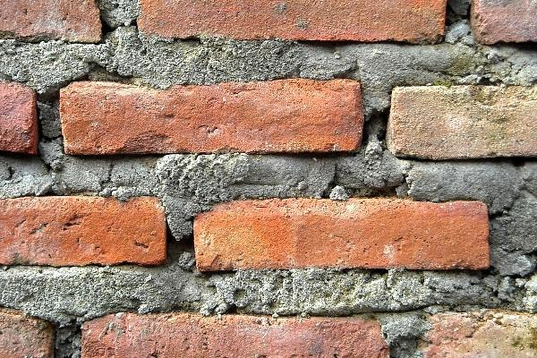 Muratura in mattoni e malta cementizia