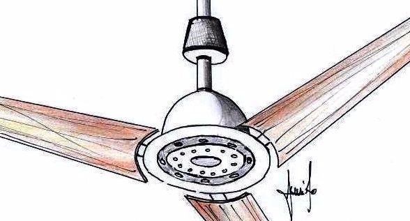 Ventilatore a soffitto con luce e diffusore wifi