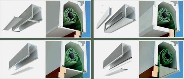 Differenti sistemi d'ispezione cassonetti avvolgibile EDILCASS