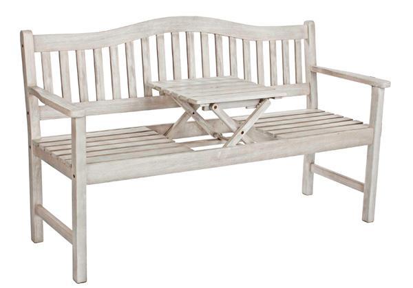 Romantica panca con tavolo incorporato di VIVEREVERDE SRL