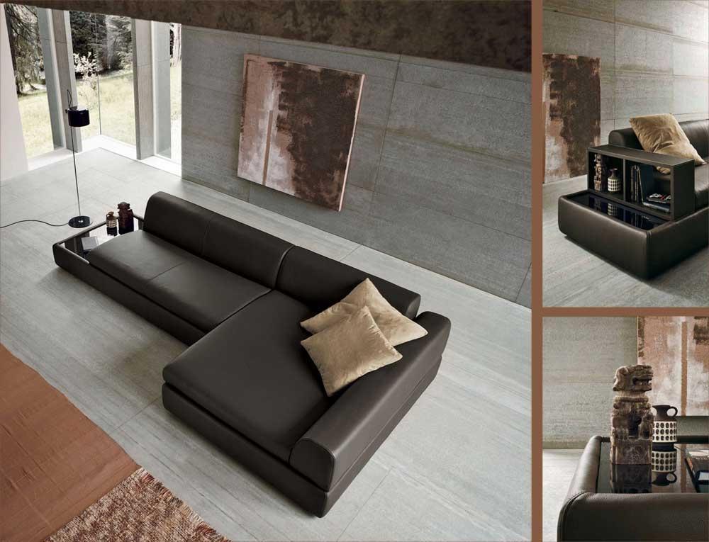 Foto divano con tavolo incorporato for Divano con mobile incorporato