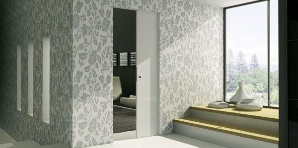 Porte raso muro Syntesis® Line scorrevole by Eclisse