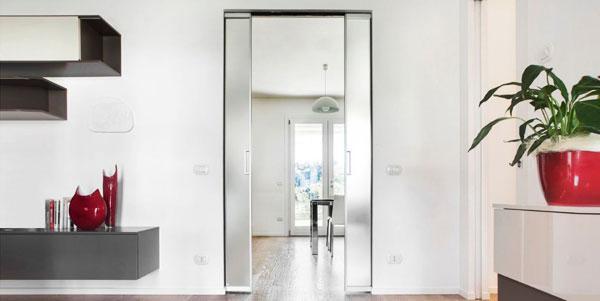 Porte filo muro scorrevoli Syntesis® Luce Estensione di Eclisse