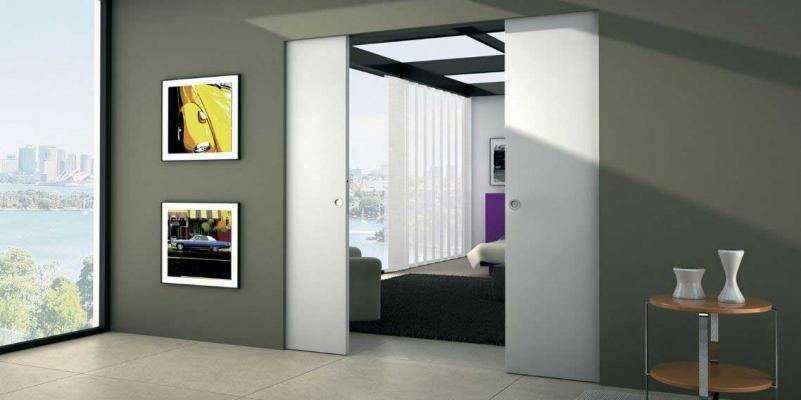 Porta a scomparsa filo muro by Eclisse